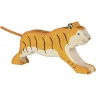 Grand tigre en bois