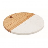 Marble and bamboo board