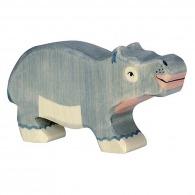 Hippopotame en bois 11cm