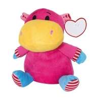 Hippopotame logoté en peluche