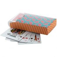 Jeu de cartes avec boîte quadri