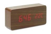 Horloge publicitaire LED en MDF