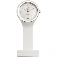 Horloge publicitaire LOLLICLOCK-CARE WHITE SILVER