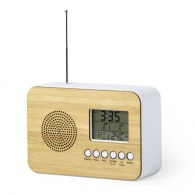 Radio personnalisée multifonctions finition bambou