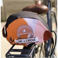 Housse de casque publicitaire de vélo