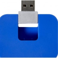 Hub personnalisé en plastique équipé de 4 ports USB