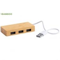 Hub USB logoté bambou