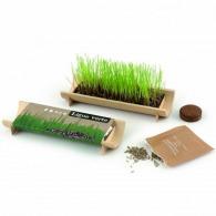 Jardinière en bambou naturel avec graines
