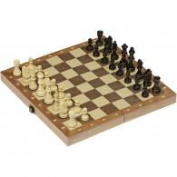 Jeu d'échecs personnalisable dans une boîte en bois pliable