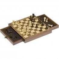 Jeu d'échecs personnalisable magnétique avec tiroir