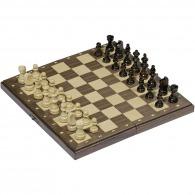 Jeu d'échecs personnalisable magnétique dans une boîte en bois pliable