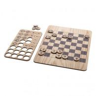 Jeu d'échecs logoté plats