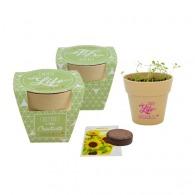 Kit de plantation personnalisable pot bambou biodégradable