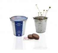 Kit de plantation publicitaire pot zinc 10cm