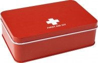 Kit de premiers secours publicitaire boîte en métal