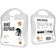Kit logoté réparation vélo avec pansements et lingettes