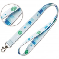 Lanyard personnalisable quadri en pet recyclé