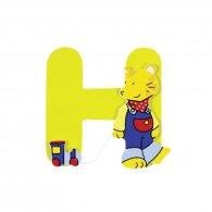 Lettre h en bois