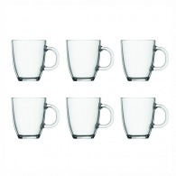 Lot de 6 mugs en verre trempé, 0.35 l