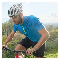 Maillot cycliste logoté 1/4 zip