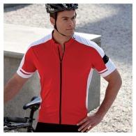 Camiseta de ciclismo bicolor con cremallera completa