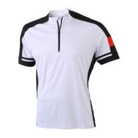 Maillot cycliste logoté homme 1/2 zip James & Nicholson