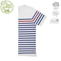 T-shirt marinière publicitaire bio