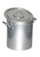 Marmite haute 17 litres + couvercle anses alu aluminium 18/10e 28 cm ø 28 cm