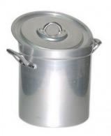 Marmite haute 26 litres + couvercle anses alu aluminium 18/10e 32 cm ø 32 cm