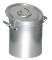 Marmite haute 33 litres + couvercle anses alu aluminium 20/10e 34 cm ø 34 cm