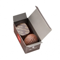 Mini ballotin 2 chocolats personnalisables assortis.