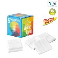 Mini-cube publicitaire avec Dextro Energy