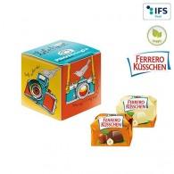 Mini-cube publicitaire avec Ferrero Küsschen