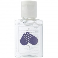 Mini flacon 15ml de gel antibactérien publicitaire