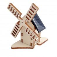 Mini moulin solaire en bois