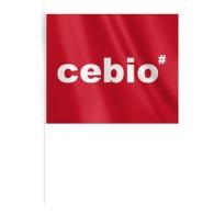 Moyen drapeau publicitaire en tissu a4