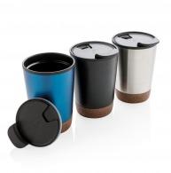Mug à couvercle isotherme de 30 cl avec base en liège
