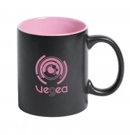 Mug bicolore noir avec logo gravé