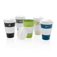 Mug développement durable personnalisable en fibres de bambou de 43 cl