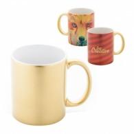 Mug doré avec impression quadri