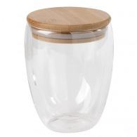 Taza de vidrio de doble pared 35cl