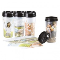 Mug isolant avec insert photo