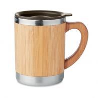 Mug isotherme personnalisable bambou 30cl