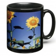 Mug noir logoté avec impression photo (quadri)