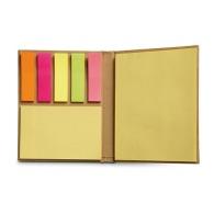 Multi bloc en papier recyclé avec bloc classique, repositionnable et marque-pages