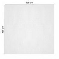 Nappe personnalisable en papier blanc 120x120cm
