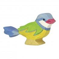 Oiseau en bois - mésange bleue