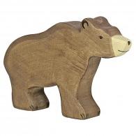 Ours brun en bois
