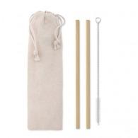 Set de 2 pailles personnalisables en bambou
