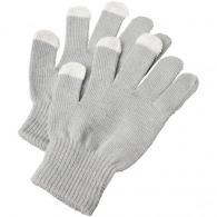 Paire de gants logotée tactiles